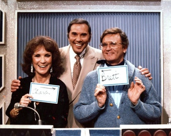"Brett Sommers and Charles Nelson Reilly With Host Gene Rayburn from the CBS Game Show ""Match Game"" - 5X7 or 8X10 Publicity Photo (ZY-181)"