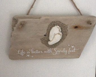 Sandy feet plaque made to order
