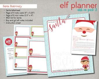 Complete 2017 Elf Planner Add-On Pack 3: Santa Stationary, Instant Digital Download