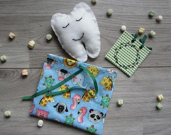 Tooth-pocket with pouch and exercise book