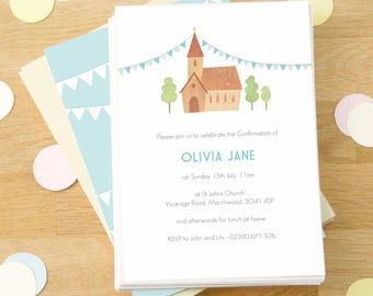 Personalised Confirmation / Communion Invitations