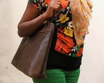 Leather hand bag women laptop bag Leather bag Brown Hobo bag Shoulder bag Every day bag leather shoulder bag leather purse office bag