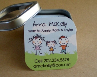 Stick figure : Calling Cards - Mommy Cards in Tin - Set of 60