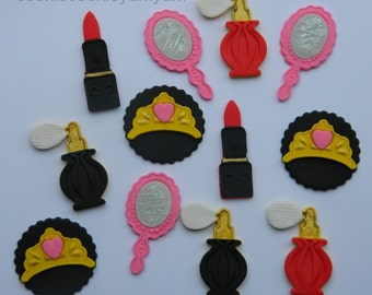 12 edible PRINCESS BEAUTY QUEEN assorted snow white cupcake toppers decorations party wedding anniversary birthday