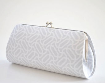 Endless Knot in Stone - Bridesmaid Clutch - Custom made clutch - Wedding clutch - Gift idea - For her