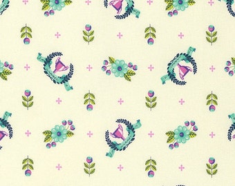 Slow & Steady by Tula Pink for Free Spirit - Winner's Circle - Blue Raspberry - 1/2 Yard Cotton Quilt Fabric 816