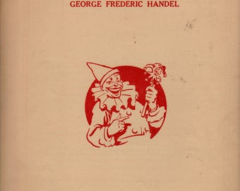 Impertinence + George Frederic Handel + 1958 + Vintage Sheet Music