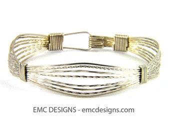 Classic Triple Wide Bracelet in Sterling Silver