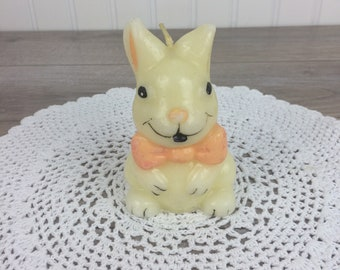 Vintage Easter Bunny Rabbit Candle, Purple, Adorable Retro Candle, Vintage  Easter Decor,