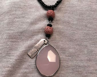 Pink Pendant Diffuser Necklace