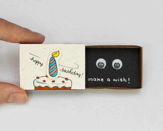 Funny birthday card matchbox gift box make a bookmarktalkfo Images