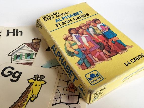 Vintage Flash Cards 1984 40 Alphabet