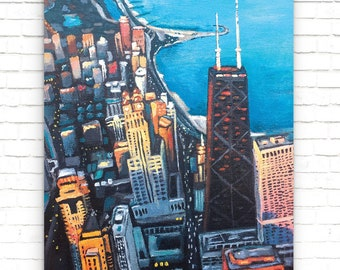 Chicago Skyline Original Painting (Art Print)