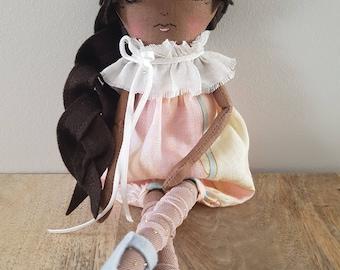 Handmade Ooak 12 Inch Doll / Heirloom Doll / Art Doll / Cloth Doll / Fabric Doll / Rag Doll / Gifts for Baby