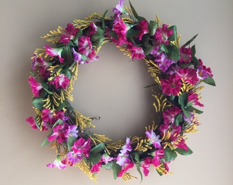Spring Summer Wreath, Door Wreath, Floral Wreath