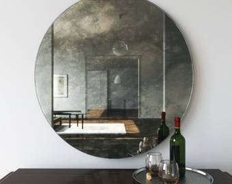 Large Antique Mirror Large Hanging Wall Mirror With
