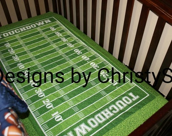 Touchdown Football Field Fitted Sheet - Crib, Toddler, Twin, Full