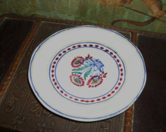 Antique George Jones And Sons Plate - Red flower pattern - England