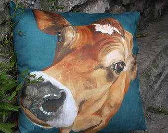 A beautiful day, Jersey cow cushion