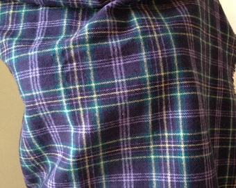 Purple Flannel Scarf, Purple Plaid Flannel, Flannel Scarf, Scarf, Purple Scarf,  Plaid Scarf, Plaid Flannel, Scarf for Her, FREE SHIPPING