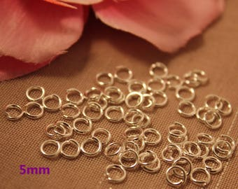 Lot of 1000 silver rings 5mm