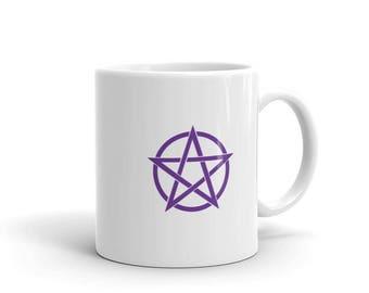 Pentacle Mug Witch Coffee Mug Wiccan Mug Pagan Mug Coffee Tea Cocoa Mug