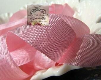 Rayon Seam Binding Ribbon Vivid Pink