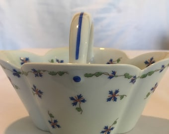 Vintage Haviland Limoges, made in France, Limoges Brides Basket, Blue Flower Pattern, Haviland Limoges Gifts, Fine Porcelain