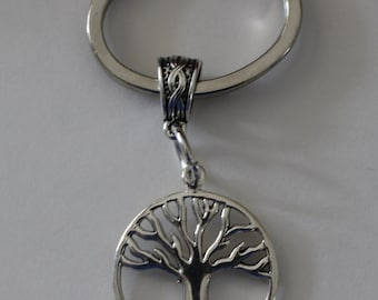 Sterling TREE OF LIFE Key Ring - Longevity, Celtic