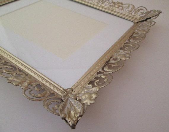 Vintage wedding frame, 8x10 frame, large metal picture frame, 10x12 ...