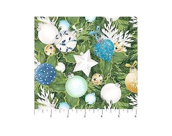 O Christmas Tree~Ornaments/Green Cotton Fabric By Northcott