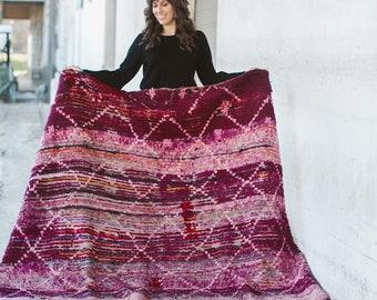 OMBRE - Vintage Moroccan Boujad Rug (purple, pink)
