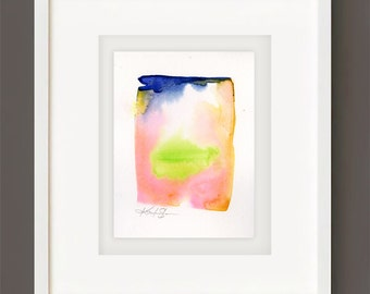 Finding Serenity No. 1 - Original Minimalist Abstract Watercolor Painting by Kathy Morton Stanion EBSQ