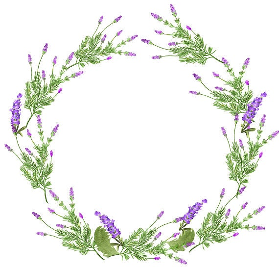 lavender wreath digital clipart purple clipart purple wreath rh etsy com lavender border clipart lavender clipart black and white
