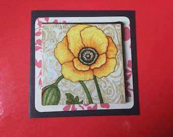 Fabric Flower & Bradded Card's - see variations
