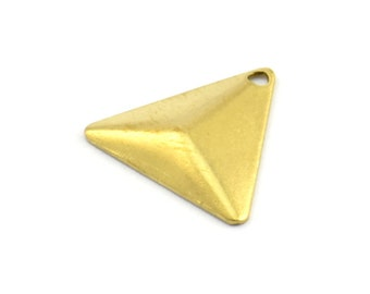 Brass Cambered Triangle, 75 Raw Brass Triangle Cambered With 1 Hole, Finding (14mm) Brs 5011 A0088