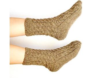 Wool Socks, Natural wool socks, Natural Knitted Wool Socks, Handmade Knit, Warm Sock, Leg warmers, women socks, men socks, gift for her