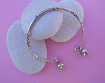 Pulsera artesanal Karen de plata. Karen hill tribe Sterling silver bracelet.