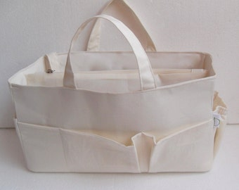 Diaper Purse organizer for Louis Vuitton Neverfull GM - Bag organizer insert in Cream