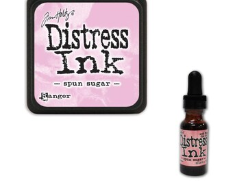 Tim Holtz Ranger Distress Ink Duo-Spun Sugar-Ink Pad and Reinker Bundle