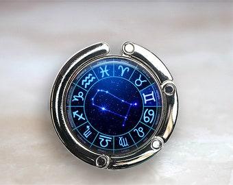 Gemini Starwheel purse hook, Gemini purse hook Zodiac bag hook Zodiac bridesmaid gift star constellation purse hanger