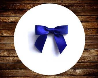 48 nœuds de Satin Bleu ROYAL mini - pré-faites et prêt pour l'artisanat