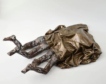 2 Cute butt under blanket, Contemporary metal wall art, Abstract sculpture, Unique home decor, Metal sculpture