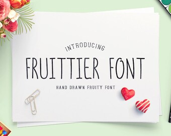 Fruittier Font Thin Display Font Handwritten Font Caps Font Wedding Font Uppercase Font Everyday Font Writing Font TTF Font True Type Font