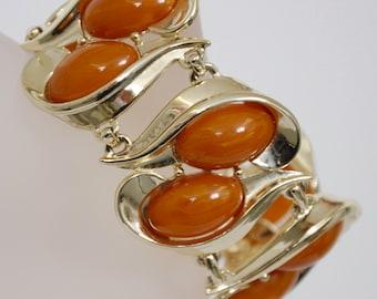 Vintage Charel Jewelry Set marked Tested Genuine Bakelite Bracelet & Earring Set
