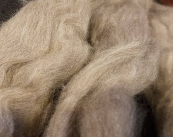CRAZY Yak combed top roving 100% to spin Light Brown luxury fiber 4 oz