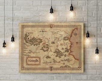 Chronicles of Narnia, Narnia map, Narnia poster, Narnia art, Nursery, Map of Narnia, Fantasy maps