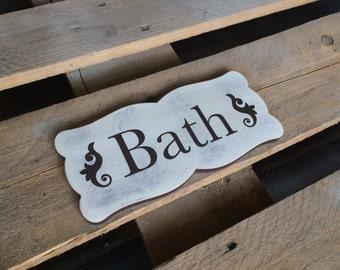 Cottage Bath Sign, Bath wall decor, Bathroom Wall Art, Rustic bathroom sign, bathroom sign, bathroom decor,  bathroom art, bathroom signs