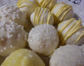 Lemon Cream Cheese Truffles