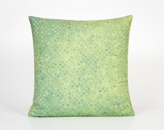 Green Pillow Cover. Green Home Decor. Polka Dot Pillow Case. Throw Pillow for Couch. Dotted Pillow. Couch Throw Pillow. Green Accent Pillow